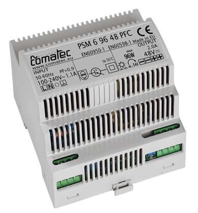 16.  ALIMENTATIONS RAIL-DIN 24 VDC - 96W AVEC PFC (POWER FACTOR CORRECTION)